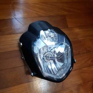 Genuine Yamaha MT-03 Headlamp was fitted to Ducati