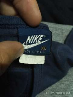 Nike Blue tag Rayon made in usa
