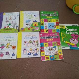 Usborne Erasable exercise books
