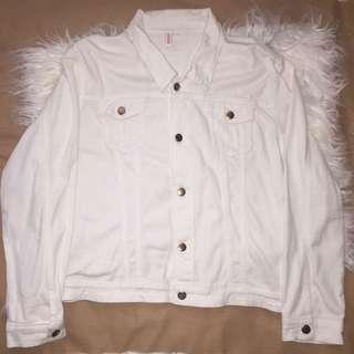 Penshoppe White Denim Jacket