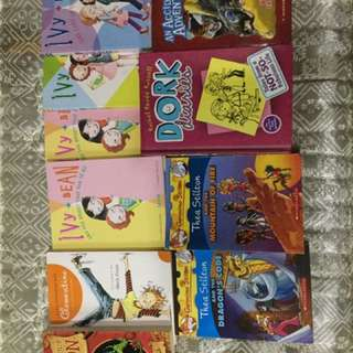 Set of different kind of series of books