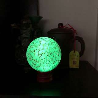 Glow in dark luminous crystal marble stone aka Ye Ming Zhu