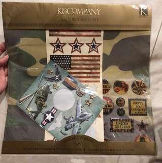 Air Force scrapbooking scrapbook scrap kit