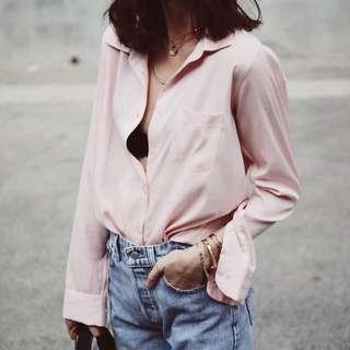 Blush Button Up Blouse