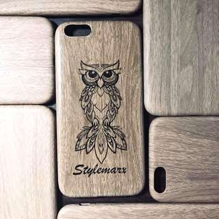 Stylemarx Personalized iPhone case wood design