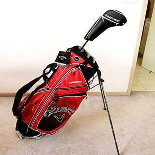 Callaway RazrFit Driver With Warbird Xtreme Golf Bag