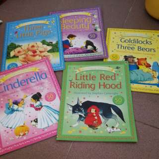 Usborne stickers story books