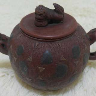 Rare Antique Hand carved Teapot