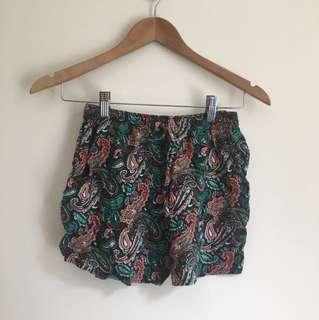 Multi coloured paisley shorts