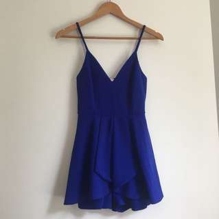Royal blue play suit