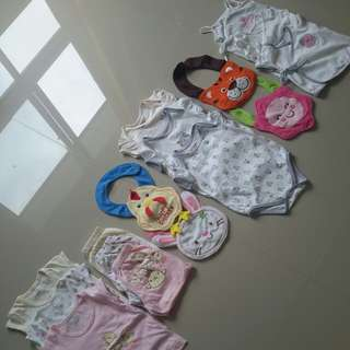 Baby  clothes with Bib (Preloved)