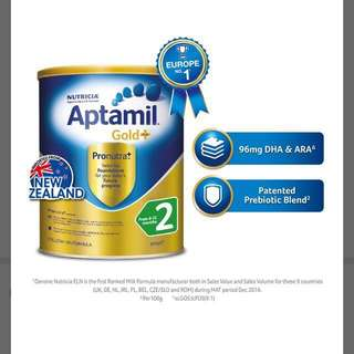 Aptamil Gold+ Follow on milk Formula - Stage 2 (900g)[Brand New]
