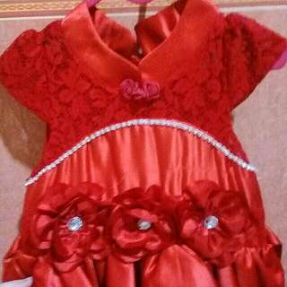 Dress donita merah