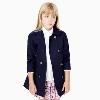 MANGO Kids Trench Coat (Navy)