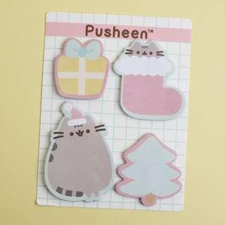 Pusheen Holiday Sticky Notes, Set of 4