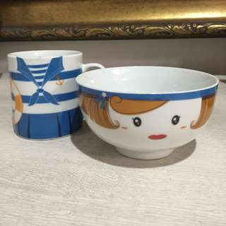 Sailor Mug and Bowl