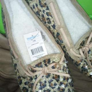 Leopard shoes with glitters