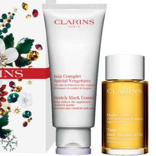 Brand New Clarins Stretch Mark 200ml and Clarins Tonic Oil 100ml