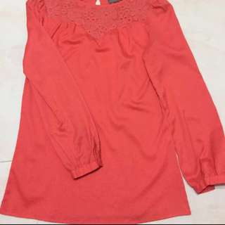 L/s Blouse in Salmon