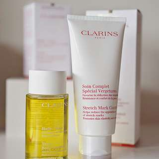 Clarins Pregnancy Stretch Mark 200ml and Clarins Huile Oil 100ml