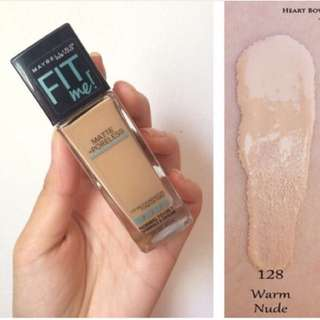 Maybelline Fit Me Foundation shade 128