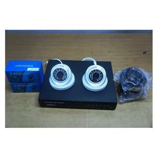 CCTV Package with 500GB Storage (4Channel with 2 indoor 720P HD Cam)
