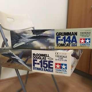 Tamiya 1:32 Scale Fighter Plane Item 60303 & 60302