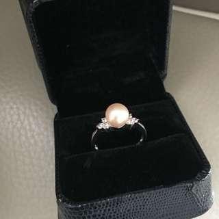 Fresh water pearl 925 ring