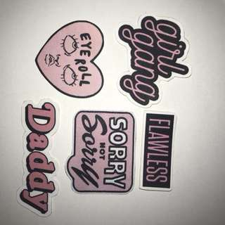 Tumblr black and pink stickers