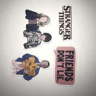 Cute stranger things stickers