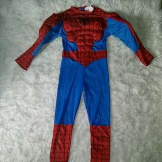 Spider man with muscle 4-6 yrs old