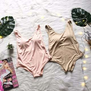 Maroon and Pink One Piece Swimwear