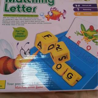 Matching letter toy