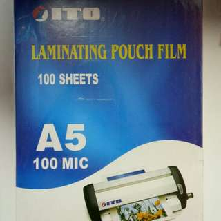 Laminating pouch film A5