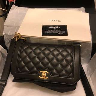 Chanel chain bag lamb skin