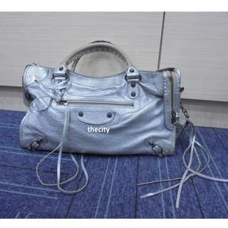 AUTHENTIC BALENCIAGA SILVER CITY BAG