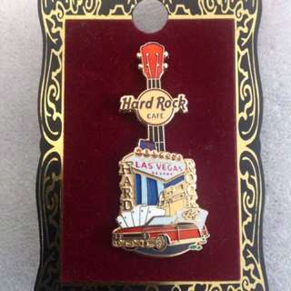 Hard Rock Cafe Pins - LAS VEGAS (STRIP) HOT 2010 CORE CITY TEE V8 GUITAR PIN!