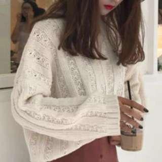 奶白色粗線冷衫(快手啦*最後一件*蝕本價)