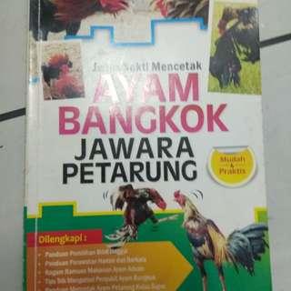 Buku jurus sakti mencetak ayam Bangkok petarung