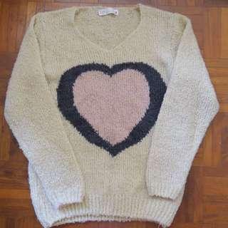 Heart Wool Winter Pullover