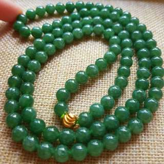 Grade A myanmar jade with cert 108 beads  翡翠108珠链 no nego