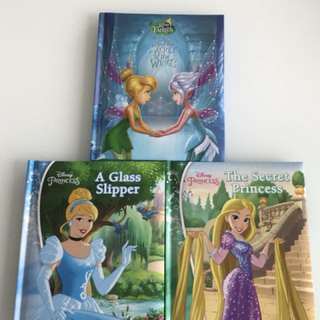 Three Disney Princess story book