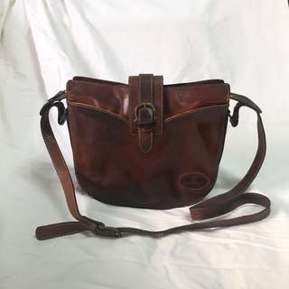 Authentic Bonia Vintage Crossbody Leather (Hand) Bag