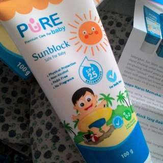 [Reprice] Pure Baby Sunblock SPF 25 for Baby