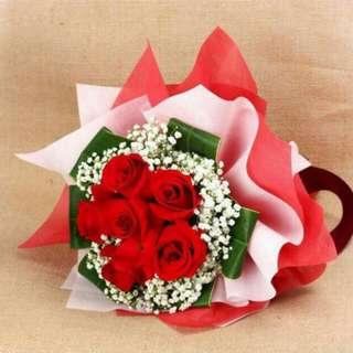 Valentine rose Flower bouquet