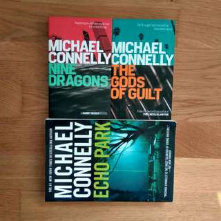 $5 holiday reads Michael Connolly Gods Of Guilt, Nine Dragons, Echo Park. good condition CNY LWE sale 3for$10