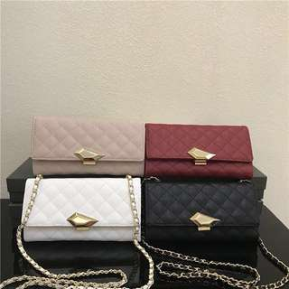 (READY STOCK) Charles & Keith long wallet quilted chain