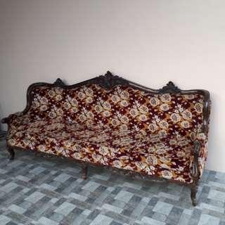 Solid Narra Long Sofa
