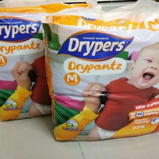 2 Drypantz Pampers M size