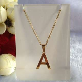Bangkok gold 10k with Initial Letter A Necklace